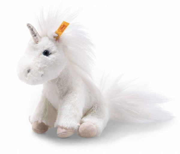 Steiff, white plush Unica unicorn.  25 cm. 087752